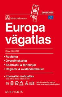 bokomslag Europa vägatlas 2019-2020 Motormännen : skala 1:800.000