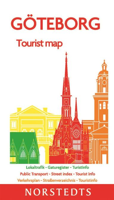 bokomslag Göteborg Tourist Map : Skala 1:10 000