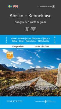 bokomslag Abisko Kebnekaise Kungsleden 1 Karta och guide : Outdoorkartan skala 1:50 000