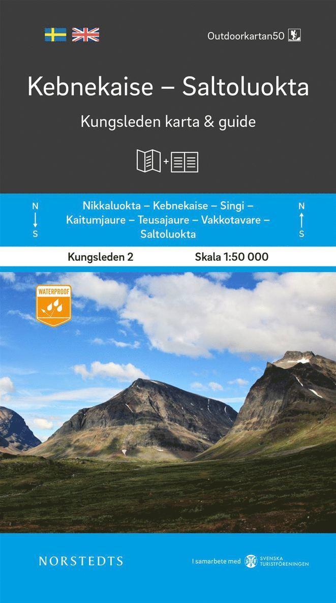 Kebnekaise Saltoluokta Kungsleden 2 Karta och guid : Outdoorkartan skala 1:50 000 1