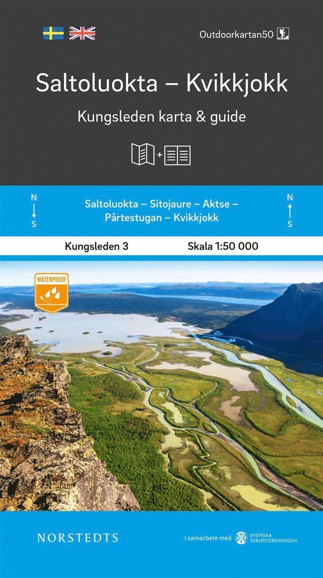 Saltoluokta Kvikkjokk Kungsleden 3 Karta och guide : Outdoorkartan 1:50 000 1