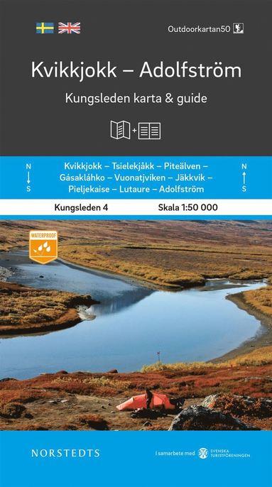 bokomslag Kvikkjokk Adolfström Kungsleden 4 Karta och guide : Outdoorkartan skala 1:50 000