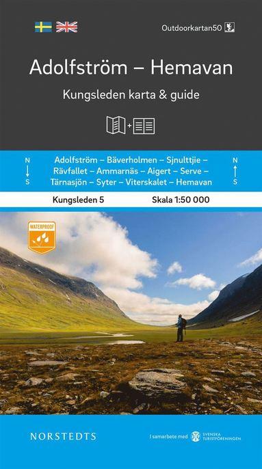bokomslag Adolfström Hemavan Kungsleden 5 Karta och guide : Outdoorkartan skala 1:50 000
