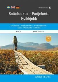 bokomslag Outdoorkartan Saltoluokta Padjelanta Kvikkjokk : Blad 3 Skala 1: 75 000