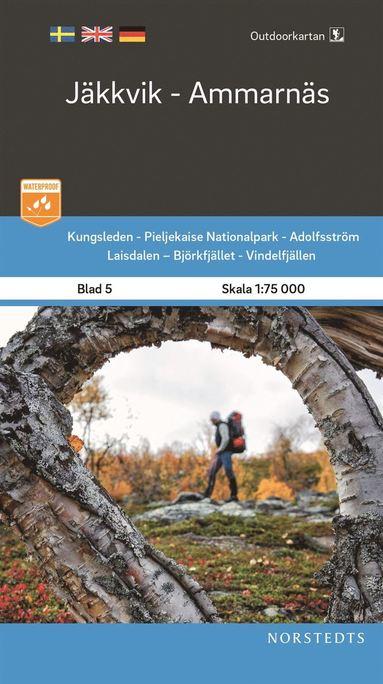 bokomslag Outdoorkartan Jäkkvik Ammarnäs : Blad 5 Skala 1:75 000