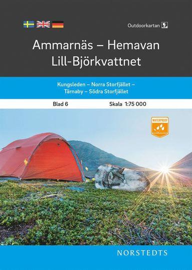 bokomslag Outdoorkartan Ammarnäs Hemavan Lill-Björkvattnet : Blad 6 Skala 1:75 000