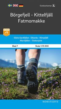 bokomslag Outdoorkartan Börgefjell Kittelfjäll Fatmomakke : Blad 7 Skala 1:75 000