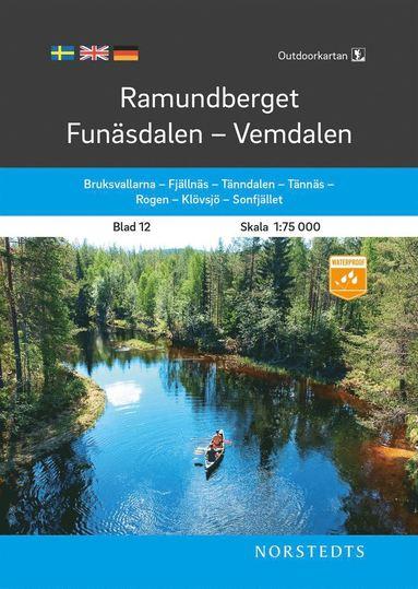 bokomslag Outdoorkartan Ramundberget Funäsdalen Vemdalen : Blad 12 Skala 1:75 000