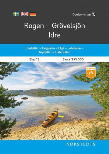 bokomslag Outdoorkartan Rogen Grövelsjön Idre : Blad 13 Skala 1:75 000