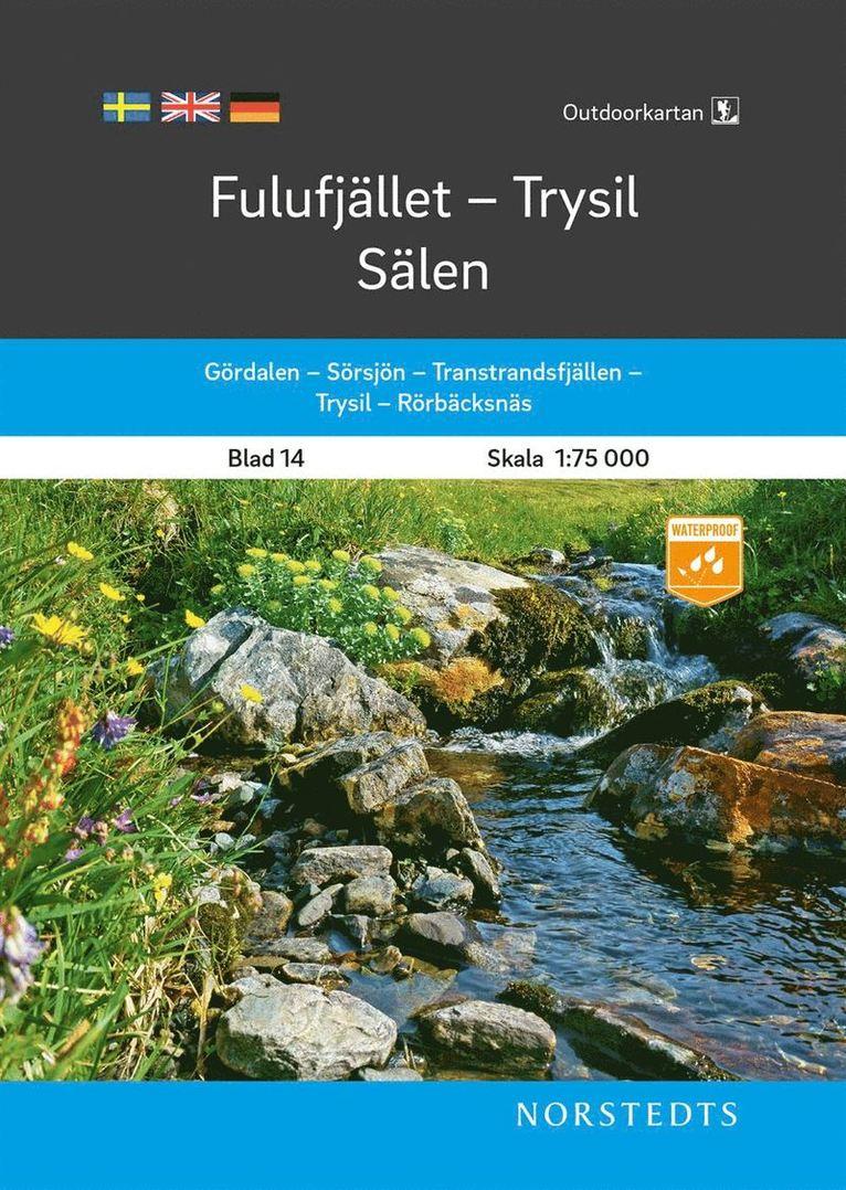 Outdoorkartan Fulufjället Trysil Sälen : Blad 14 Skala 1:75 000 1
