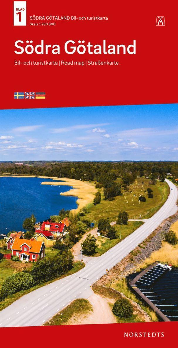 Södra Götaland Bil & Turistkarta Nr 1 : Skala 1:250.000 1