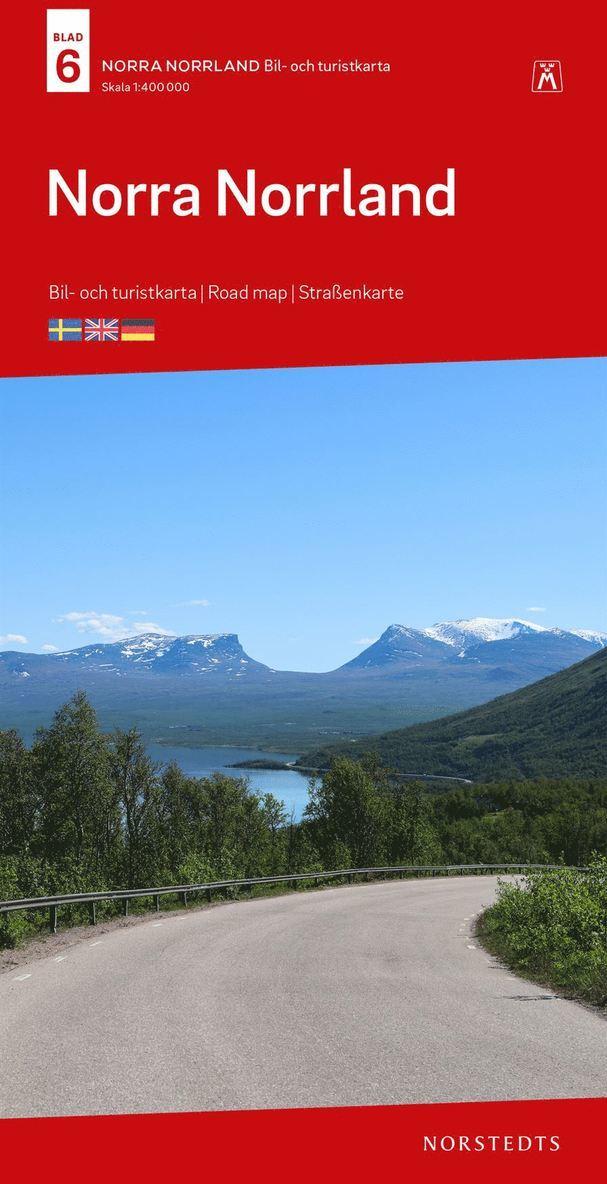 Norra Norrland Bil & Turistkarta Nr 6 : Skala 1:400.000 1