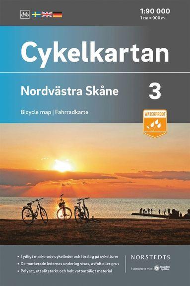 bokomslag Cykelkartan Blad 3 Nordvästra Skåne : Skala 1:90 000