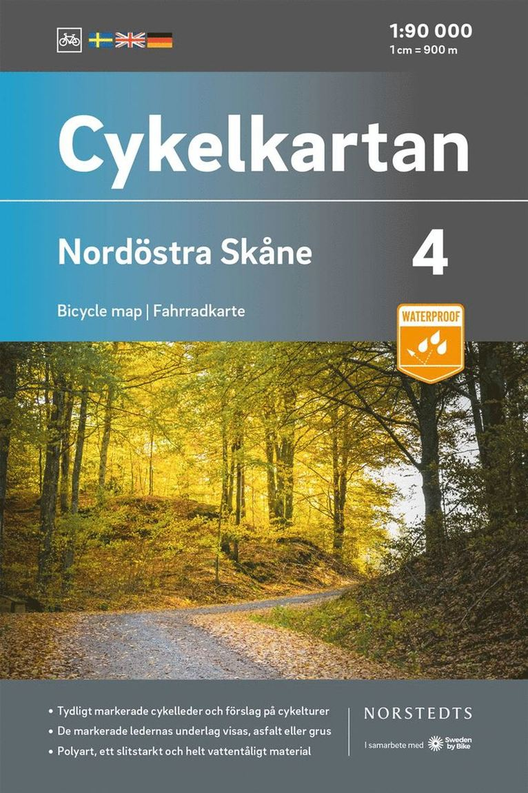 Cykelkartan Blad 4 Nordöstra Skåne : Skala 1:90 000 1