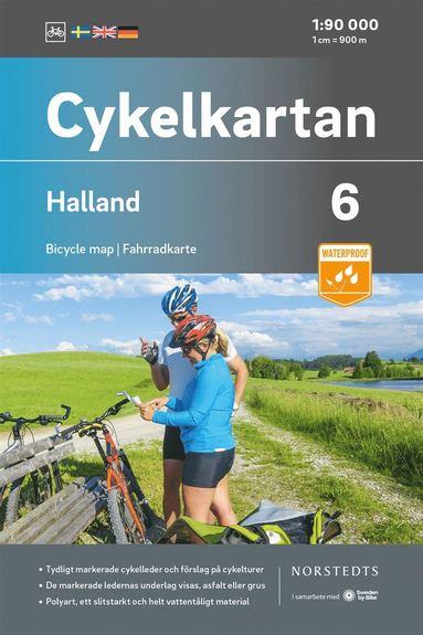 bokomslag Cykelkartan Blad 6 Halland : Skala 1:90 000