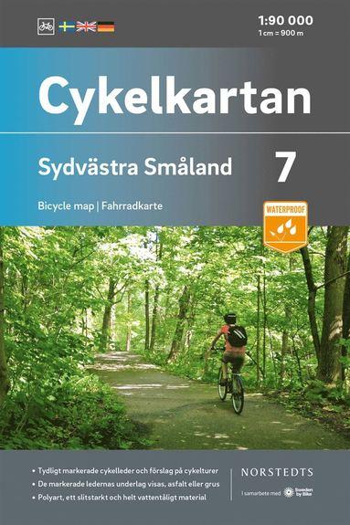 bokomslag Cykelkartan Blad 7 Sydvästra Småland : Skala 1:90 000