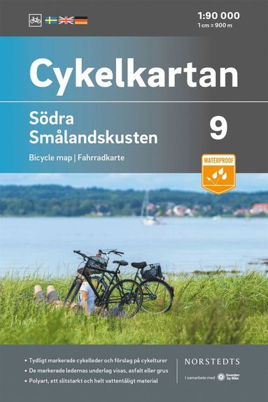 bokomslag Cykelkartan Blad 9 Södra Smålandskusten : Skala 1:90 000