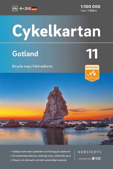 bokomslag Cykelkartan Blad 11 Gotland : Skala 1:90 000