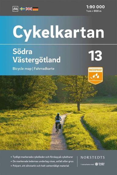 bokomslag Cykelkartan Blad 13 Södra Västergötland : Skala 1:90 000