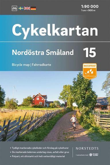 bokomslag Cykelkartan Blad 15 Nordöstra Småland : Skala 1:90 000
