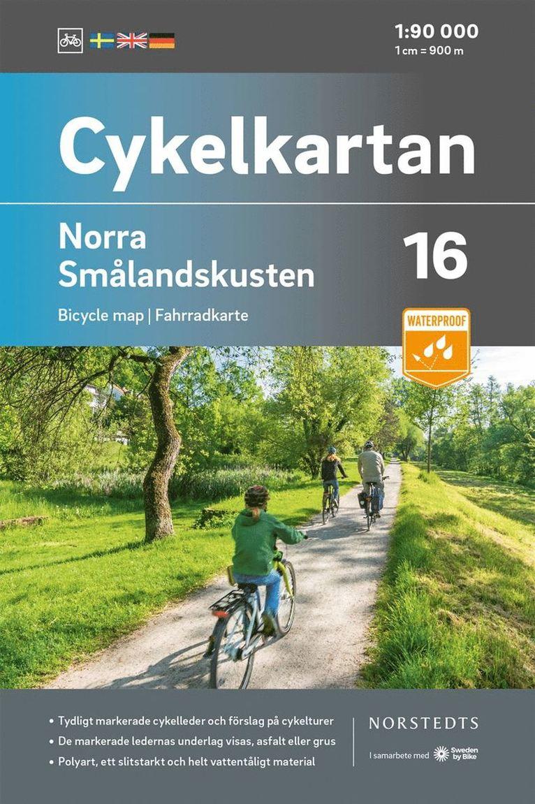 Cykelkartan Blad 16 Norra Smålandskusten : Skala 1:90 000 1