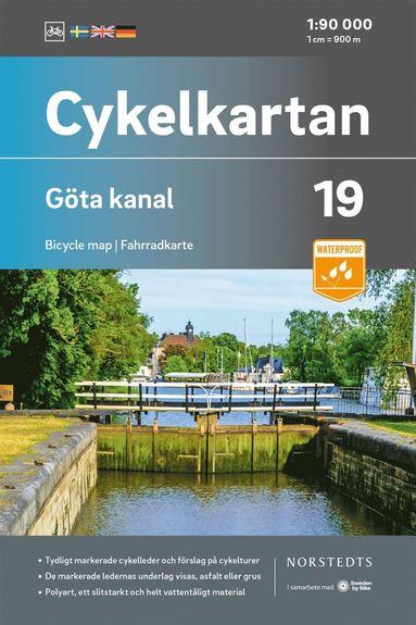 bokomslag Cykelkartan Blad 19 Göta kanal : Skala 1:90 000