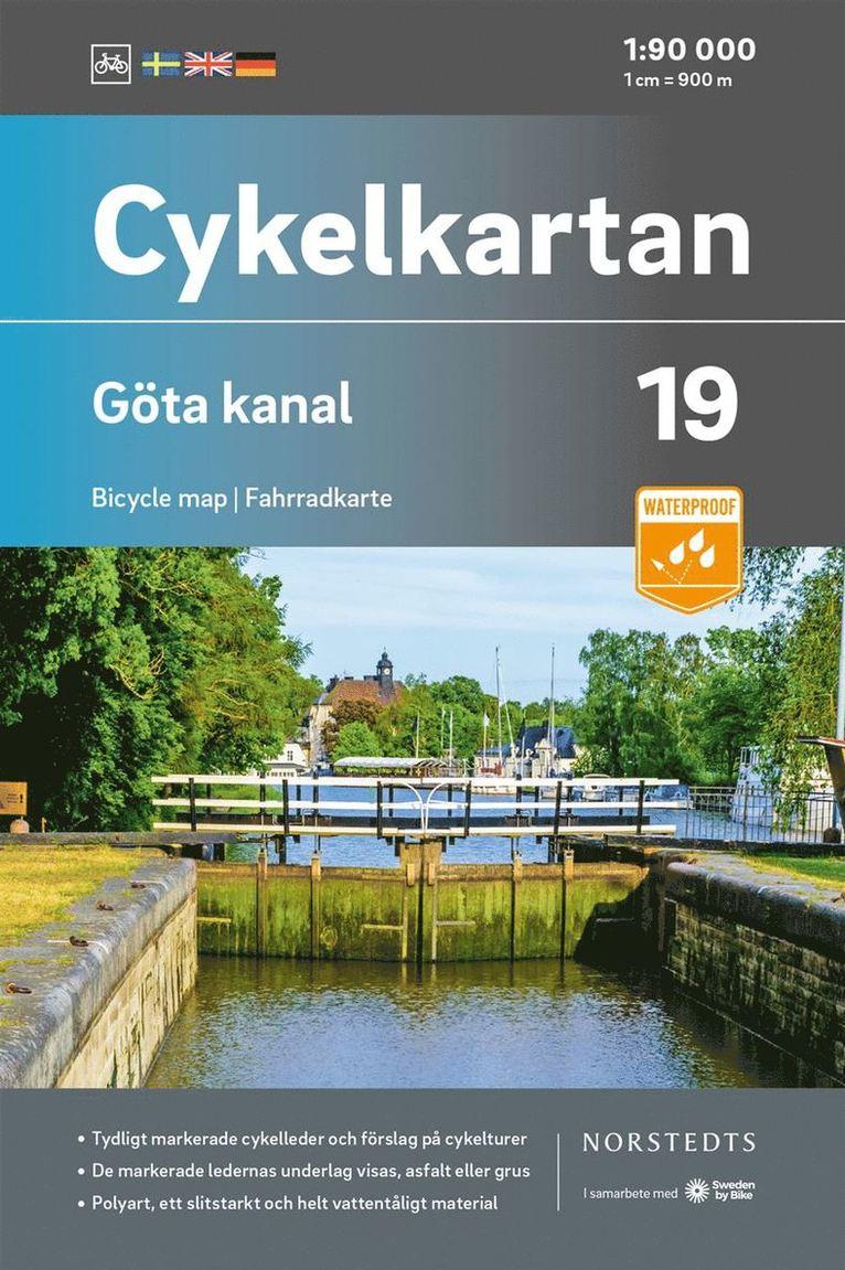 Cykelkartan Blad 19 Göta kanal : Skala 1:90 000 1