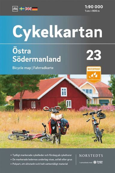 bokomslag Cykelkartan Blad 23 Östra Södermanland : Skala 1:90 000