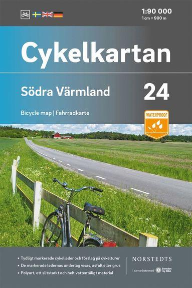 bokomslag Cykelkartan Blad 24 Södra Värmland : Skala 1:90 000