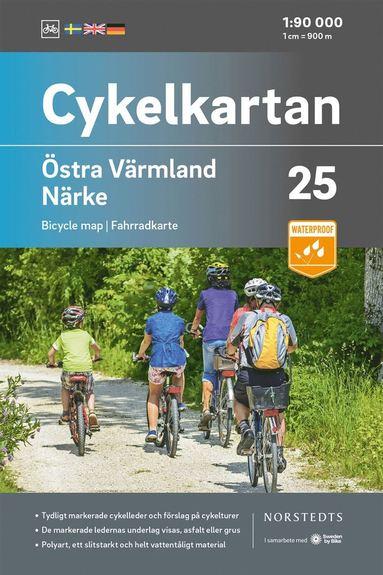 bokomslag Cykelkartan Blad 25 Östra Värmland/Närke : Skala 1:90 000