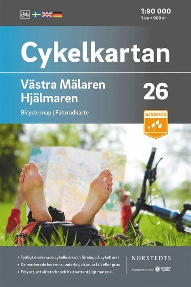 bokomslag Cykelkartan Blad 26 Västra Mälaren/Hjälmaren : Skala 1:90 000