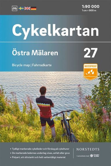 bokomslag Cykelkartan Blad 27 Östra Mälaren : Skala 1:90 000