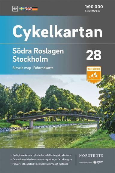 bokomslag Cykelkartan Blad 28 Södra Roslagen/Stockholm : Skala 1:90 000