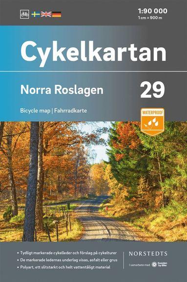 bokomslag Cykelkartan Blad 29 Norra Roslagen : Skala 1:90 000