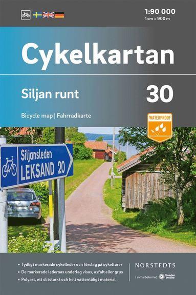 bokomslag Cykelkartan Blad 30 Siljan runt : Skala 1:90 000