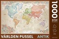Pussel 1000 bitar världen antik