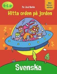 bokomslag Pysselbok Svenska Hitta orden på jorden