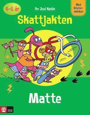 bokomslag Pysselbok Matte Skattjakten