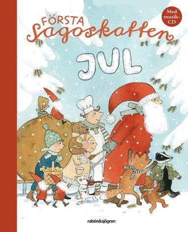 bokomslag Första sagoskatten : jul