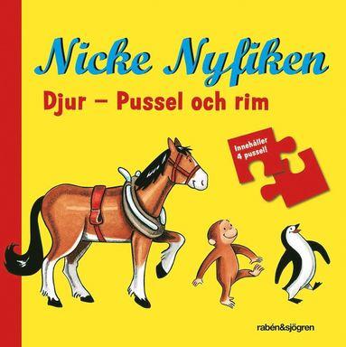 bokomslag Nicke Nyfiken - Djur : Pussel och rim