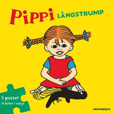 bokomslag Pippi Långstrump Pusselbok : 5 pussel med 12 bitar i varje
