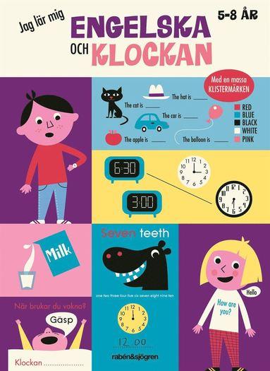 bokomslag Jag lär mig engelska och klockan
