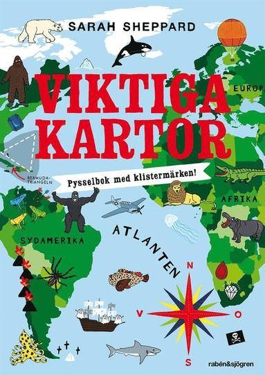 bokomslag Viktiga Kartor Pysselbok : Pysselbok med klistermärken