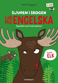 bokomslag Djuren i skogen lär mig engelska : Pysselbok med klistermärken