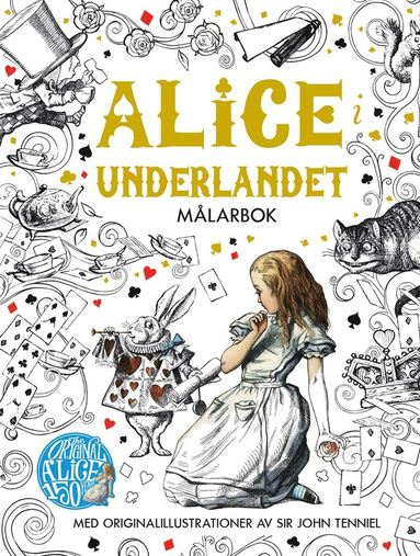 bokomslag Alice i Underlandet Målarbok