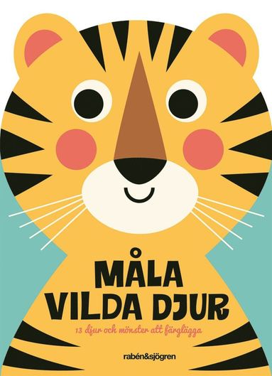 bokomslag Måla vilda djur : Djur och mönster att färglägga