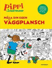 bokomslag Pippi målarbok. Måla din egen väggplansch