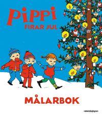 bokomslag Pippi firar jul - Målarbok