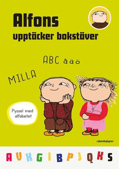 bokomslag Alfons upptäcker bokstäver