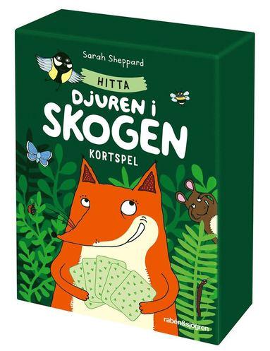Hitta djuren i skogen - kortspel